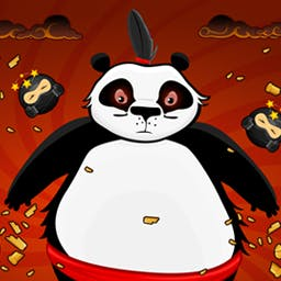 Pandas vs Ninjas - Help protect the pandas in Pandas vs Ninjas! Adorable pandas must defend against invading ninjas in this crazy, fun, physics-based arcade battle! - logo