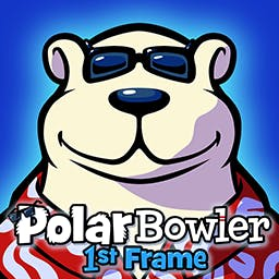 Polar Bowler 1st Frame - The polar bear you know and love is back and better than ever! Send PB flying down the ice and hit the pins in Polar Bowler 1st Frame! Play now! - logo