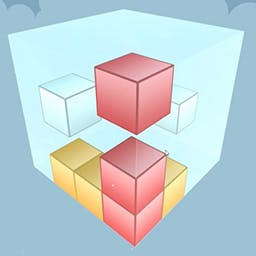 "Puzzle Cube - This puzzle game has a ""Easy to Learn - Hard to Master""-concept to it. Each level has a number of movable boxes, with different colors, within the pla - logo"