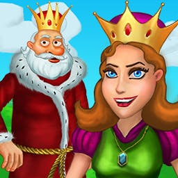 Queen's Garden - Queen's Garden is a charming match 3 game where you'll help the King build a garden for his Queen! - logo