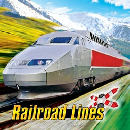Railroad Lines - Complete a multitude of tasks associated with both passenger and freight trains in Railroad Lines, a fun simulation for model lovers! - logo