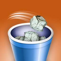 Rapid Toss - Ever tossed a paper ball into a waste bin and felt extremely satisfied? Well now you can enjoy that feeling without wasting paper in Rapid Toss! - logo
