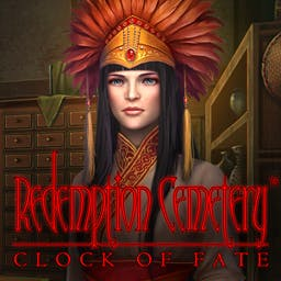 Redemption Cemetery: Clock of Fate - Enjoy collecting skulls in every scene and decorating your own cemetery in this macabre hidden-object puzzle adventure game! - logo