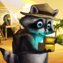 Ricky Raccoon 2 - Search for 5 hidden artefacts in the match 3 game Ricky Raccoon 2! - logo
