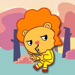 Happy Tree Friends: Run and Bun - In Run and Bun, the Happy Tree Friends are in hot pursuit of stolen buns!  Help them collect as many as possible before the thieves get away! - logo