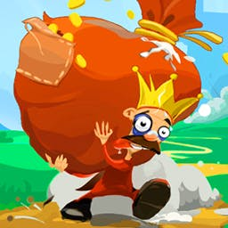 Running King - The King is running from an angry crowd! It's up to you to disable all the traps and save him in this fun twist on a runner. - logo