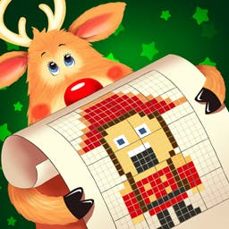 Santa's Toy Factory Nonograms - Help Santa in his workshop in the holiday puzzle game Santa's Toy Factory Nonograms! - logo