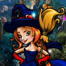 Save Halloween: City of Witches - Take back the Stone of the Dead in the match 3 game Save Halloween: City of Witches! - logo