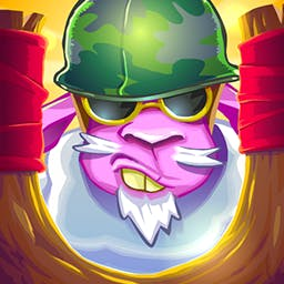 Saving Private Sheep 2 - The wolves were defeated, but now foxes threaten the sheep!  Fling your hedgehog at the predators and protect the herd in Saving Private Sheep 2! - logo