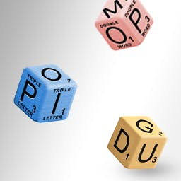 Cash Tournaments - SCRABBLE® Cubes - SCRABBLE® Cubes is a 3-D take on everybody's favorite board game! Play the tournament edition of SCRABBLE Cubes for a chance to win cash! - logo