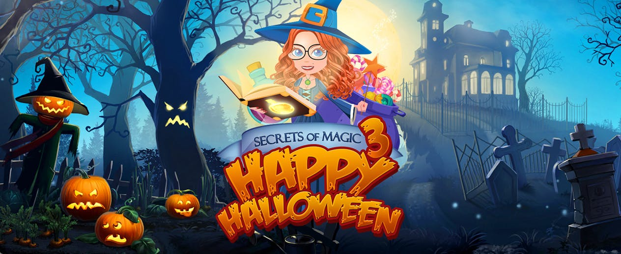 Secrets of Magic 3: Happy Halloween - Halloween themed match-3 puzzle game - image