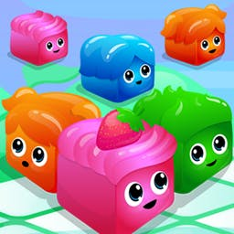 7x7 Mania! - Connect four jellies to make them disappear, but watch out! Every time you move, new jellies appear in the puzzle game 7x7 Mania! - logo