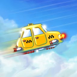 Sky Taxi: Top Secret - Rescue a beautiful spy from the clutches of a madman as you run, jump and stomp your way through Sky Taxi: Top Secret! - logo