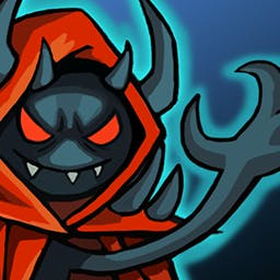 Stickwars 3 - You were dead and now you're not.  Awesome!  Protect your evil castle by flicking the enemies away from your walls in Stickwars™ 3! - logo