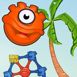 Sticky Linky - Give evolution a hand!  Help these colored globs develop into a higher form of life in the puzzle game Sticky Linky. - logo
