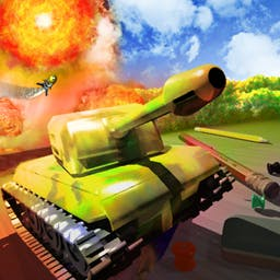 Tank-O-Box - Operate a tank and protect your headquarters from a fearsome enemy during 55 intense tank battles. Play Tank-O-Box now on your Android device! - logo