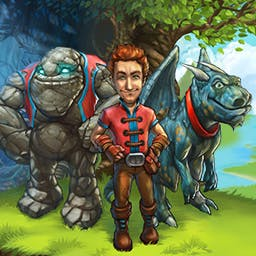The Beardless Wizard - Eugene's master is missing! Get him back by levelling up your skills and completing hilarious time management quests in The Beardless Wizard. - logo