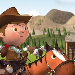 "The Cow-Boy: Little Hero - The Cow-Boy: Little Hero is based on the popular ""Little Hero"" books and will take your preschooler on an interactive story adventure! - logo"