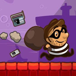 Thief Dash - Run with a thief as far as you can and steal as many valuables as you can collect! But, don't get trapped along the way! Play today! - logo