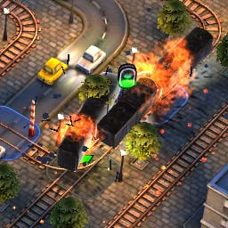 Trainz Trouble - Plan the route, change the junctions, time the stops, and avoid trouble... it's not so simple in the puzzle game Trainz Trouble! - logo