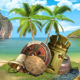 The Treasures of Mystery Island - Find hidden objects and solve puzzles to escape Mystery Island! - logo