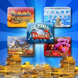 Vegas Penny Slots Pack 2 - Vegas Penny Slots Pack 2 features five of the best slots games in one great package. Play Dolphins Dice, Mega Hearts 2, and three more! - logo