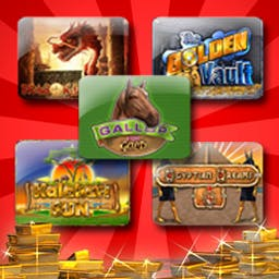 Vegas Penny Slots Pack - The Vegas Penny Slots Pack collects 5 of the best slot games ever made. Try out Dragon Dollars, Egyptian Dreams, Golden Vault, and more! - logo