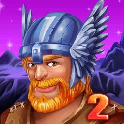 Viking Saga: New World - A terrible disease is ravaging the kingdom and it's up to you and King Ingolf to find the cure in this time management game, Viking Saga: New World. - logo
