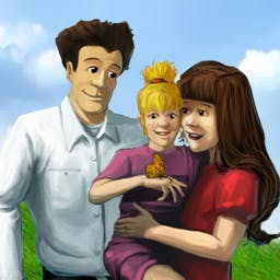Virtual Families - Raise and care for your own Virtual Family in this hit game! Help them with their health and career. Play now on your Android device! - logo