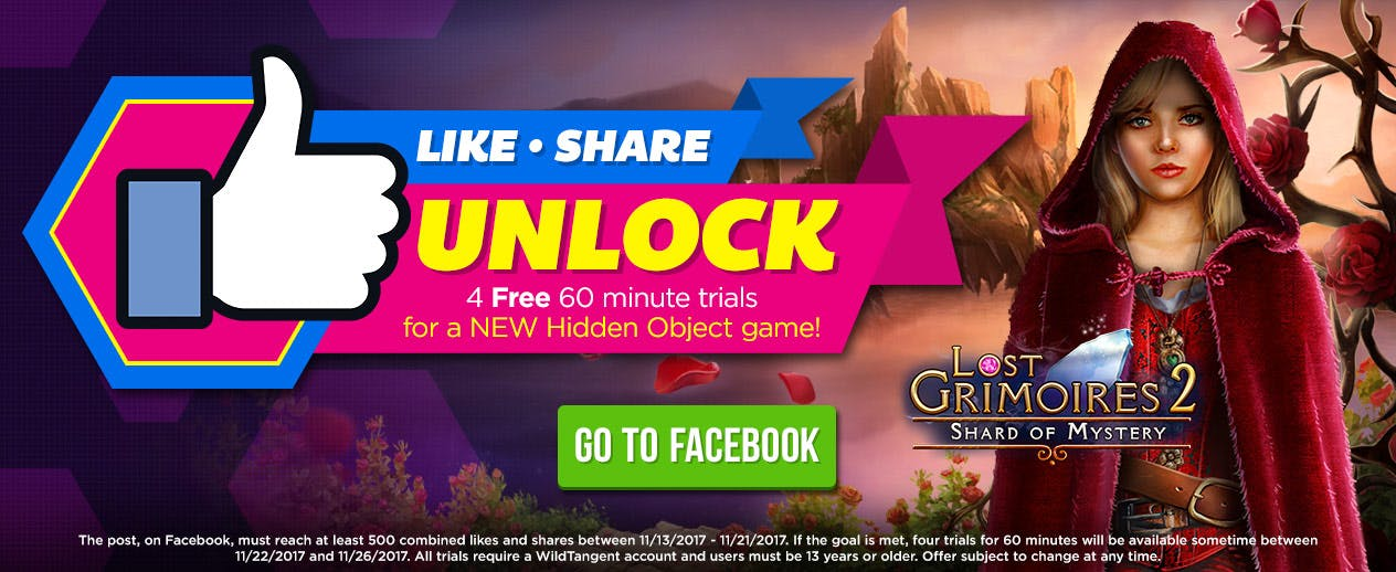 Facebook Contest! - Unlock a NEW Hidden Object Game! - image