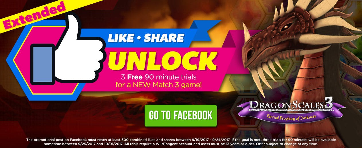Facebook Contest! - EXTENDED! Unlock a NEW Match 3 Game! - image