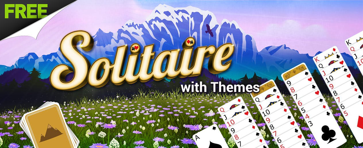 Solitaire with Themes - Check out the Mountain Theme! - image
