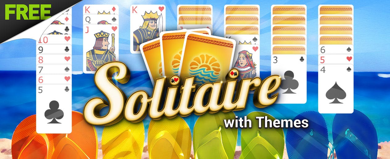 Solitaire with Themes - Check out the Summer Theme! - image