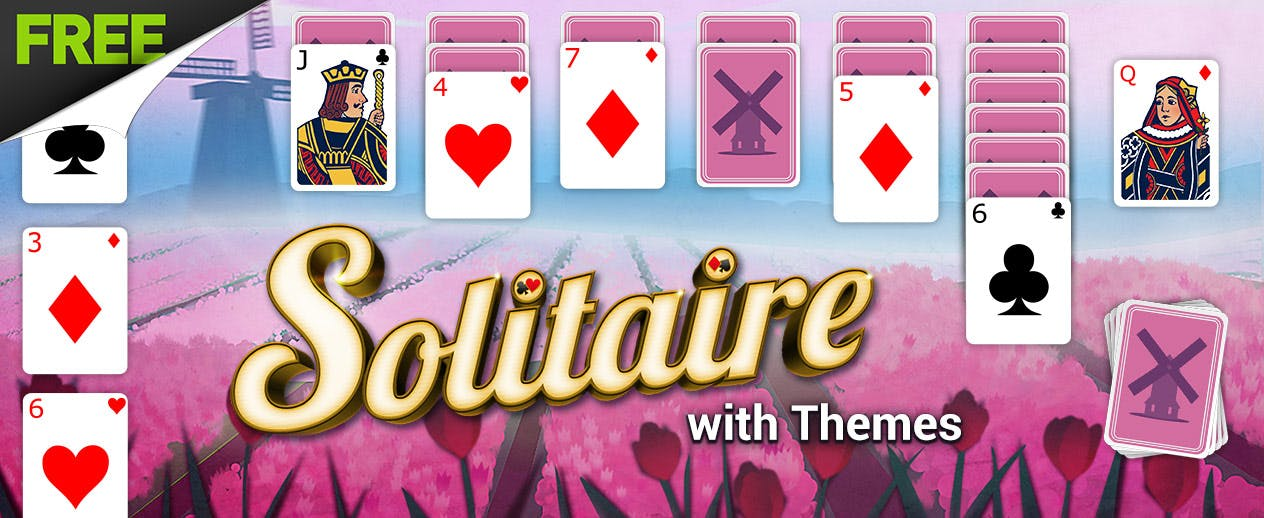 Solitaire with Themes - Check out the Tulip Theme! - image