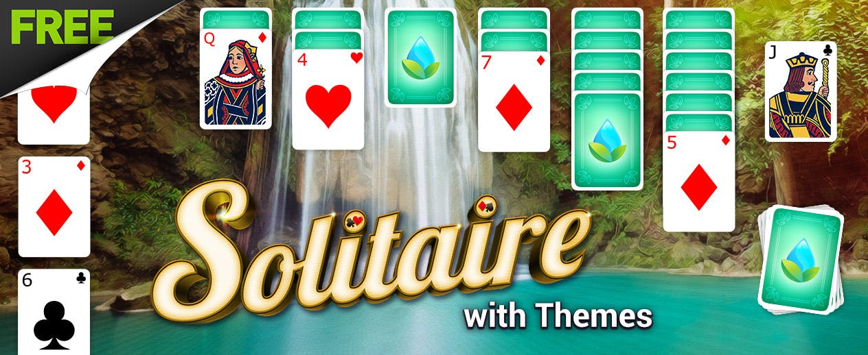 Solitaire with Themes - Check out the Waterfall Theme! - image