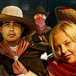 Wild West Quest - Will you strike it rich? In the hidden object game Wild West Quest, you'll travel 120 years back in time to experience the Old West. - logo