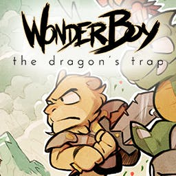 Wonder Boy: The Dragon's Trap - Boasting beautiful, hand-drawn animations and a re-orchestrated soundtrack, the classic returns with a blend of exploration, action, and adventure! - logo