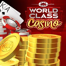 World Class Casino: Slots & Poker - Welcome to the place for free, premium casino-style slots and poker games. You've found World Class Casino: Slots & Poker! - logo