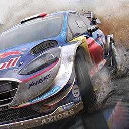 WRC 7 FIA World Rally Championship - 2017 World Rally Championship: the official cars and drivers, 13 countries, 52 Special Stages, every surface, longer races and an eSports mode. - logo