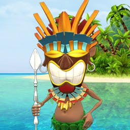 Youda Survivor - Fight off pirates and protect an entire tribe in Youda Survivor! - logo