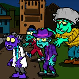 Zombie Jewel - A quiet night in the city turns into the zombie apocalypse in Zombie Jewel! Help Dan rescue the love of his life with your match 3 skills! - logo
